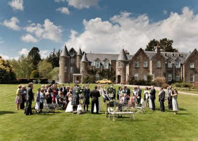 an outdoor wedding at dalmunzie castle