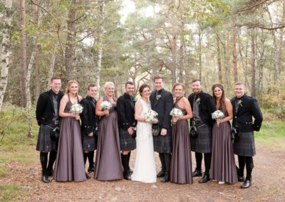a bridal party at an aviemore wedding photographer