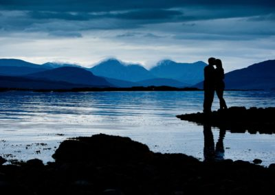 a couple photographed on their elopement on the isle of skye
