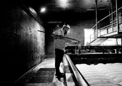 Andrew Gibb samples the malt production at pencaitland.