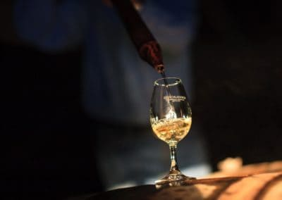 bruichladdich whisky being sampled from a cask