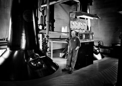 budgie, a member of the team at bruichladdich distillery