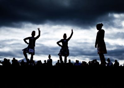 highland dancers compete in the invercharron highland games