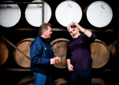 jim mcewan and duncan mcgillivray photographed at bruichladdich distillery