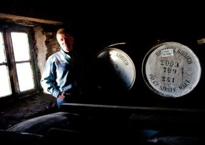 jim mcewan of bruichladdich distillery photographed by scotch whisky photographer roddy mackay