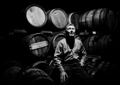 jim mcewan distiller photographed at bruichladdich distillery warehouses by inverness commercial photographer, roddy mackay